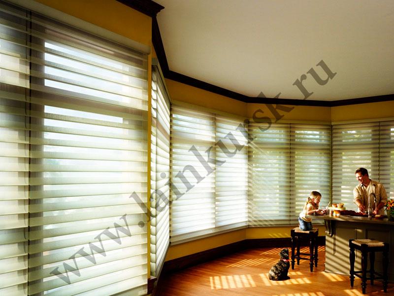 Рулонные шторы «Зебра» в Курске Липецке Орле